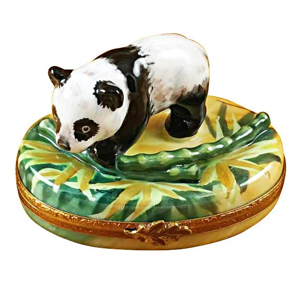 Panda With Bamboo Limoges Box by Rochard-Limoges Box-Rochard-Top Notch Gift Shop