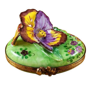 Pansy - Purple & Yellow Limoges Box by Rochard™-Limoges Box-Rochard-Top Notch Gift Shop