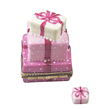 Pink Birthday Cake With Present Limoges Box by Rochard™