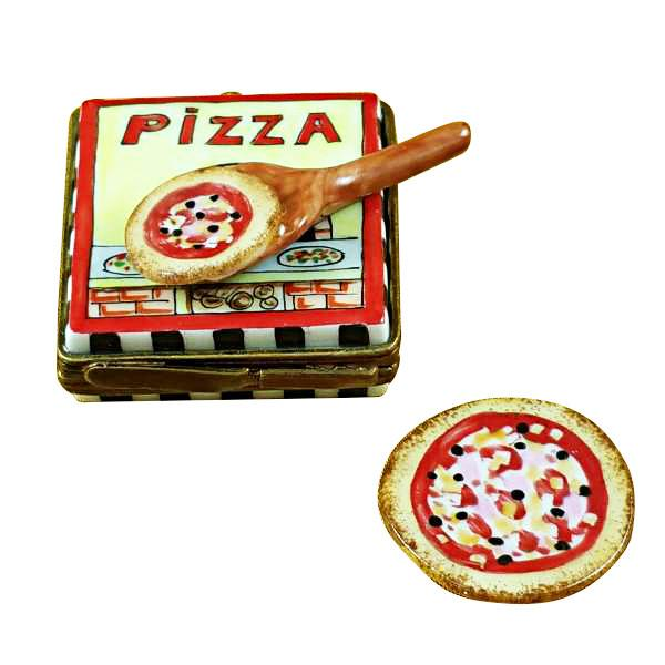 Pizza Box with Pizza Limoges Box by Rochard™-Rochard-Top Notch Gift Shop
