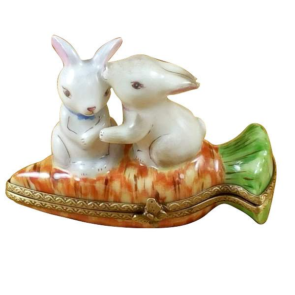 Rabbits On Carrot Limoges Box by Rochard™-Rochard-Top Notch Gift Shop