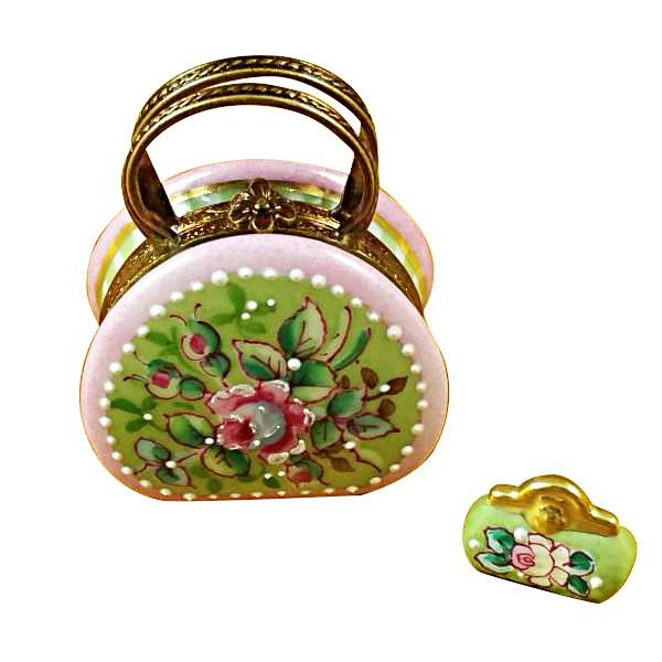 Round Purse with Coin Wallet Victoria Limoges Box by Rochard™-Rochard-Top Notch Gift Shop