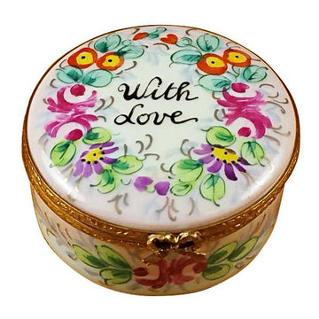 Round - With Love - Studio Collection Limoges Box by Rochard™