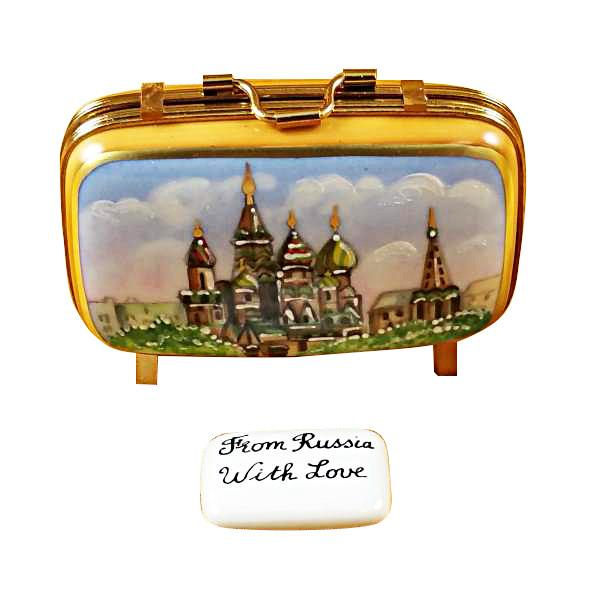 Russia Suitcase Limoges Box by Rochard™-Limoges Box-Rochard-Top Notch Gift Shop