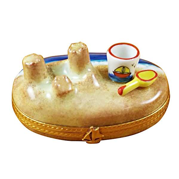 Sandcastle with Pail Limoges Box by Rochard™-Limoges Box-Rochard-Top Notch Gift Shop