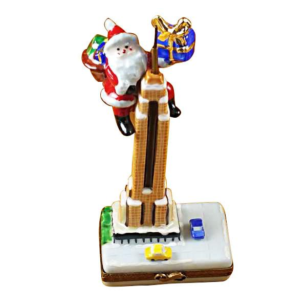 Santa On Empire State Building Limoges Box by Rochard™-Rochard-Top Notch Gift Shop