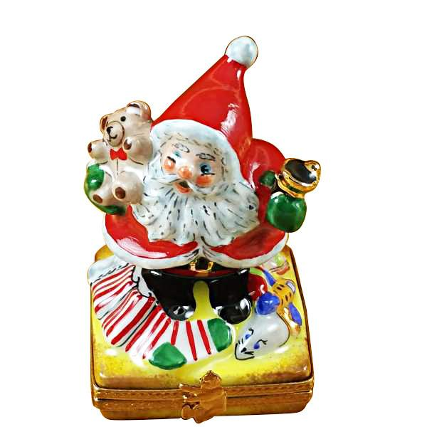 Santa with Bell Limoges Box by Rochard-Limoges Box-Rochard-Top Notch Gift Shop
