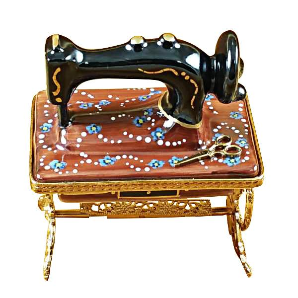 Sewing Machine with Stand Limoges Box by Rochard™-Limoges Box-Rochard-Top Notch Gift Shop
