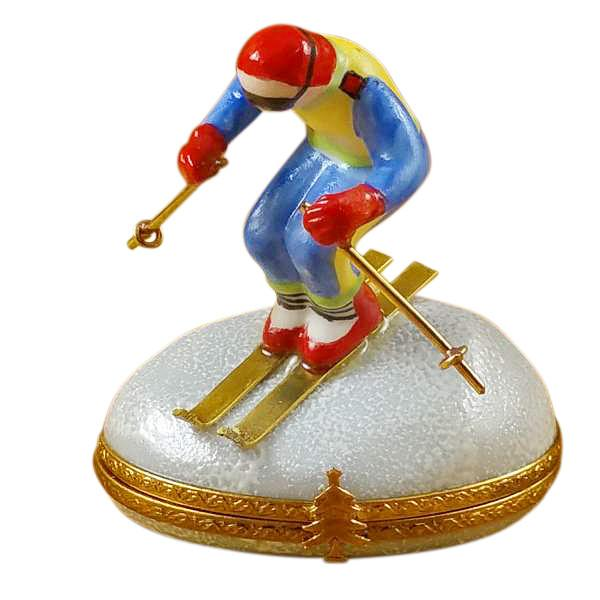 Skier On Mountain Limoges Box by Rochard™-Limoges Box-Rochard-Top Notch Gift Shop