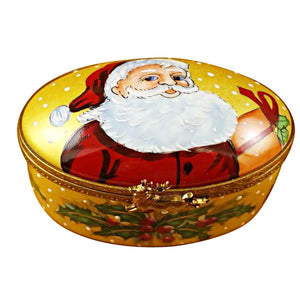 Studio Collection - Oval with Santa Claus Limoges Box by Rochard™-Limoges Box-Rochard-Top Notch Gift Shop