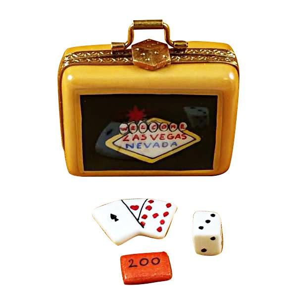 Suitcase Welcome To Las Vegas Limoges Box by Rochard-Limoges Box-Rochard-Top Notch Gift Shop