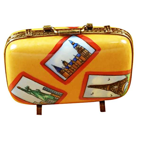 Suitcase With Large Tags Limoges Box by Rochard™-Limoges Box-Rochard-Top Notch Gift Shop