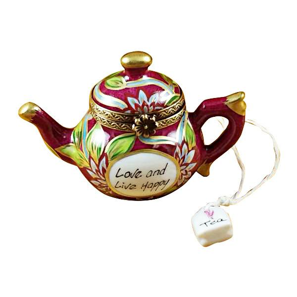 Teapot - Love & Live Happy Limoges Box by Rochard™-Rochard-Top Notch Gift Shop