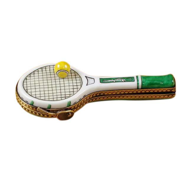 Tennis Racquet Limoges Box by Rochard™-Limoges Box-Rochard-Top Notch Gift Shop