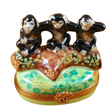 Three Monkeys Limoges Box by Rochard™