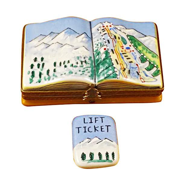 Trail Map with Removable Lift Ticket Limoges Box by Rochard™-Limoges Box-Rochard-Top Notch Gift Shop
