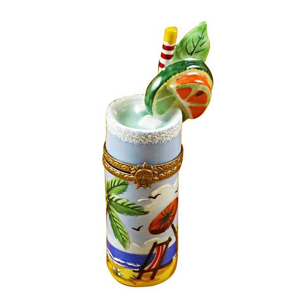Tropical Cocktail Glass Limoges Box by Rochard™-Rochard-Top Notch Gift Shop