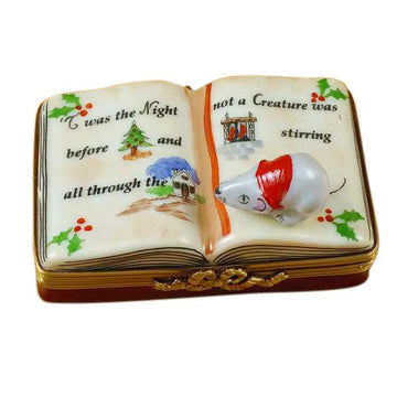 Twas The Night Before Christmas Book Limoges Box by Rochard™