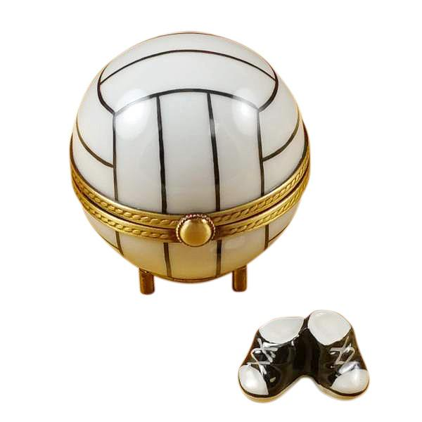 Volleyball With Removable Tennis Shoes Limoges Box by Rochard-Limoges Box-Rochard-Top Notch Gift Shop