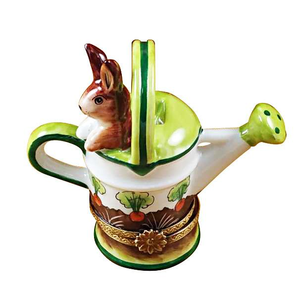 Watering Can with Rabbit Limoges Box by Rochard™-Limoges Box-Rochard-Top Notch Gift Shop