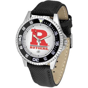 Rutgers Scarlett Knights Competitor - Poly/Leather Band Watch-Suntime-Top Notch Gift Shop