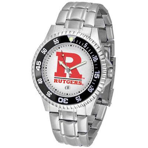 Rutgers Scarlett Knights Competitor - Steel Band Watch-Suntime-Top Notch Gift Shop