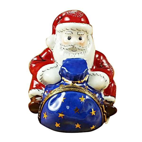 Santa Sitting With Gift Bag Limoges Box by Rochard™-Limoges Box-Rochard-Top Notch Gift Shop