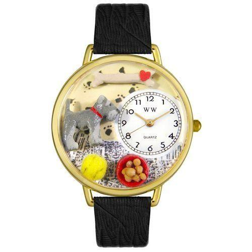 Schnauzer Watch in Gold (Large)-Watch-Whimsical Gifts-Top Notch Gift Shop