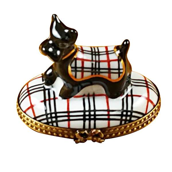 Scottish Terrier - Burberry Limoges Box by Rochard™-Rochard-Top Notch Gift Shop