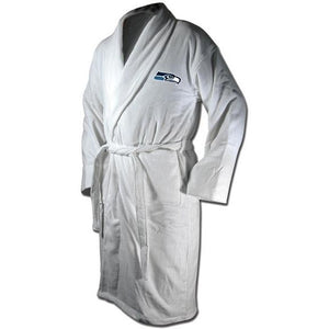 Seattle Seahawks White Terrycloth Bathrobe-Bathrobe-Wincraft-Top Notch Gift Shop