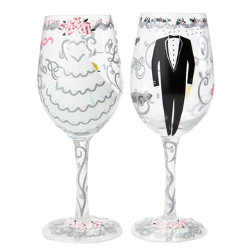 Bride And Groom Wine Glass Set by Lolita®