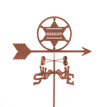 Sheriff 6 pt. Badge Weathervane