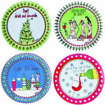 Simply Christmas Cocktail Plates - Set of 4