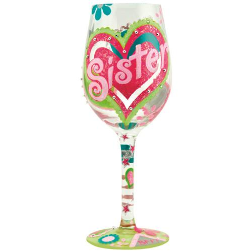 Sister My BFF Wine Glass by Lolita®-Designs by Lolita® (Enesco)-Top Notch Gift Shop