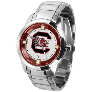 South Carolina Gamecocks Men's Titan Stainless Steel Band Watch-Watch-Suntime-Top Notch Gift Shop