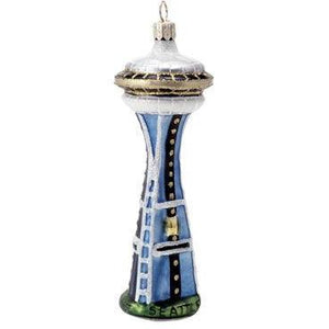Space Needle Blown Glass Christmas Ornament-Ornament-Landmark Creations-Top Notch Gift Shop