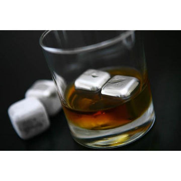 Sparq Polished Stainless Steel Whisky Cubes - Set of 4