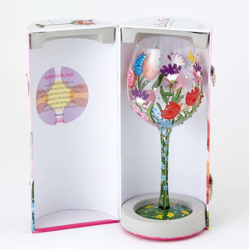 Spring Bling Super Bling Wine Glass by Lolita®-Designs by Lolita® (Enesco)-Top Notch Gift Shop