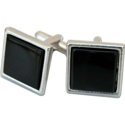 Square Cufflinks with Black Onyx-Cufflinks-Classic Legacy-Top Notch Gift Shop