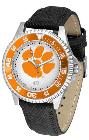 Clemson Tigers Competitor - Poly/Leather Band Watch-Watch-Suntime-Top Notch Gift Shop