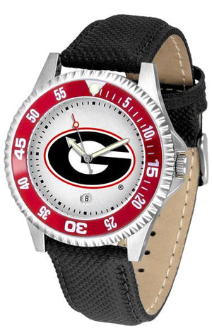 Georgia Bulldogs Competitor - Poly/Leather Band Watch-Watch-Suntime-Top Notch Gift Shop