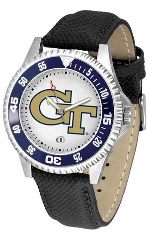Georgia Tech Yellow Jackets Competitor - Poly/Leather Band Watch-Watch-Suntime-Top Notch Gift Shop