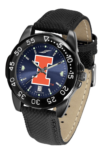 Illinois Fighting Illini Men's Fantom Bandit AnoChrome Watch-Watch-Suntime-Top Notch Gift Shop