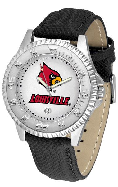 Louisville Cardinals Competitor - Poly/Leather Band Watch-Watch-Suntime-Top Notch Gift Shop