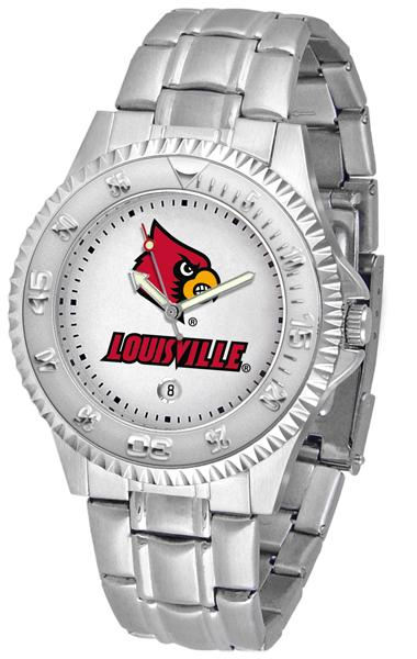 Louisville Cardinals Competitor - Steel Band Watch-Watch-Suntime-Top Notch Gift Shop
