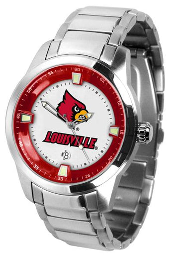 Louisville Cardinals Men's Titan Stainless Steel Band Watch