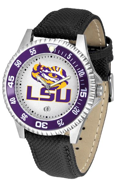 Louisiana State Tigers Competitor - Poly/Leather Band Watch-Watch-Suntime-Top Notch Gift Shop