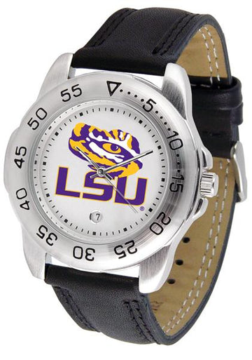 Louisiana State Tigers Mens Leather Band Sports Watch