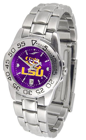 Louisiana State Tigers Ladies AnoChrome Steel Band Sports Watch-Watch-Suntime-Top Notch Gift Shop