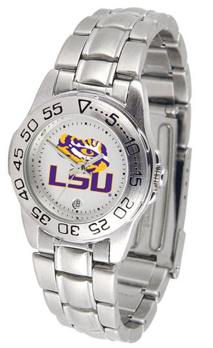 Louisiana State Tigers Ladies Steel Band Sports Watch-Watch-Suntime-Top Notch Gift Shop